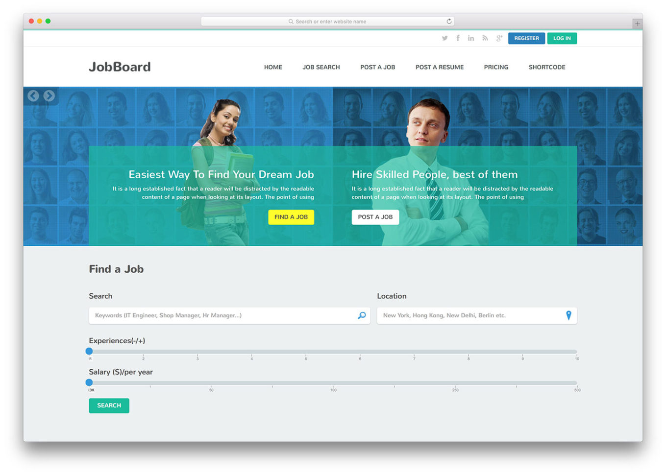 Top 12 Html5 Job Board Websites Templates 2018   Colorlib In Project Management Website Templates