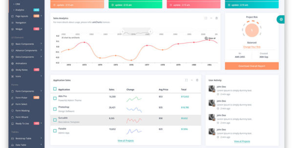 Top 32 Free Responsive Html5 Admin & Dashboard Templates 2018   Colorlib With Crm Template Free Download