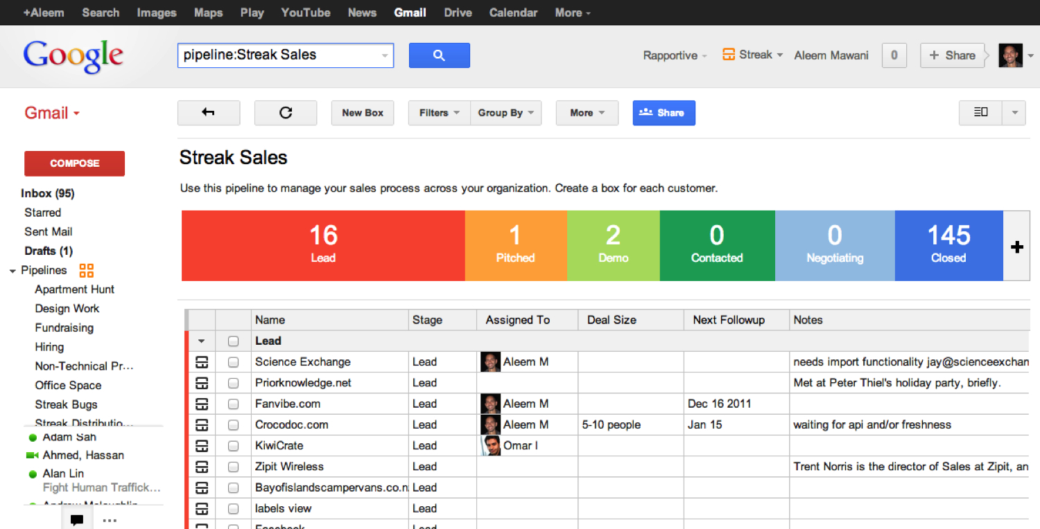 Top 7 Gmail Crm Integrations For Chrome Users   Getcrm For Crm Template Free Download