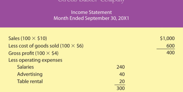 Understanding Financial Statements And Monthly Income Statement