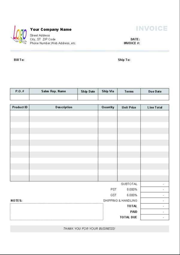 Uniform Invoice Software   Uniform Software Intended For Business Invoice Program