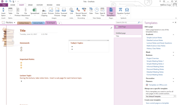 Use Onenote Templates To Streamline Meeting, Class, Project, And To Project Management Templates For Onenote