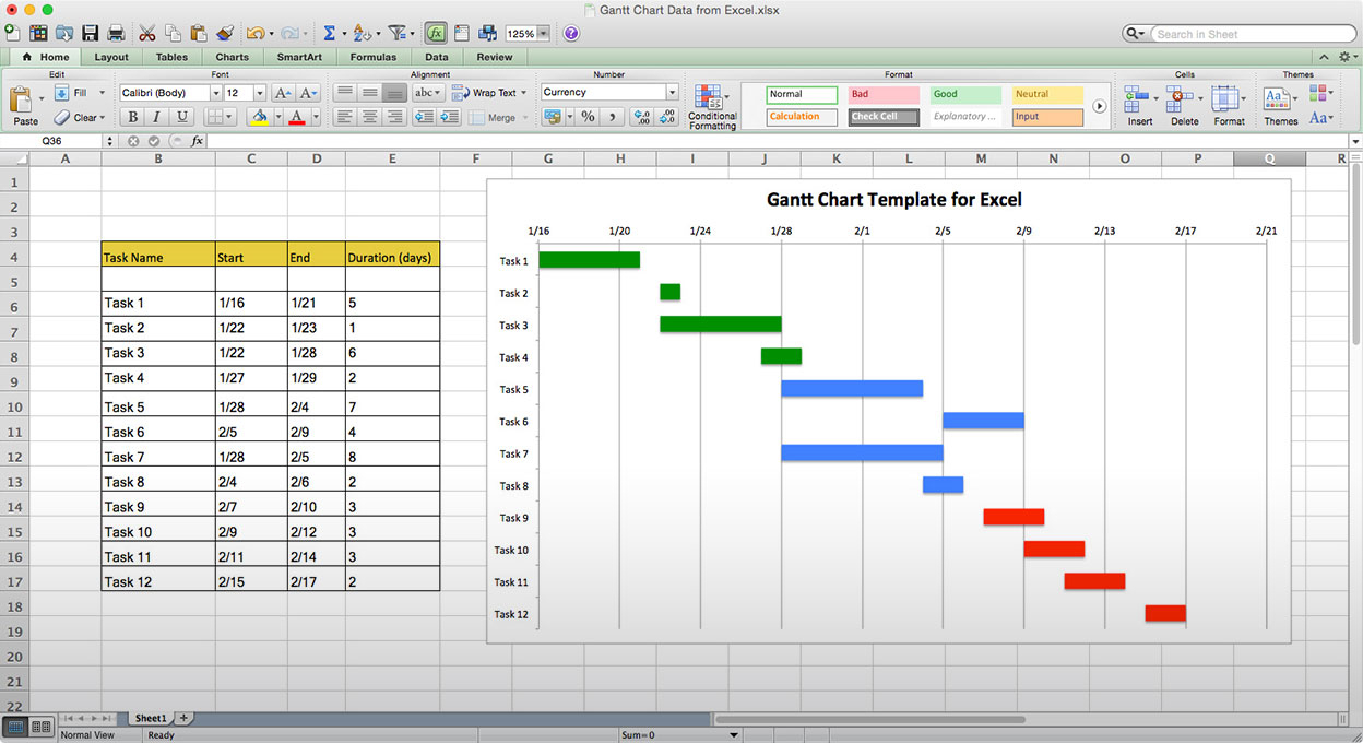 Use This Free Gantt Chart Excel Template And Gantt Chart Excel Template Free Download Mac