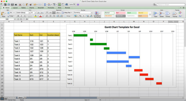 Use This Free Gantt Chart Excel Template Throughout Gantt Chart Template Free