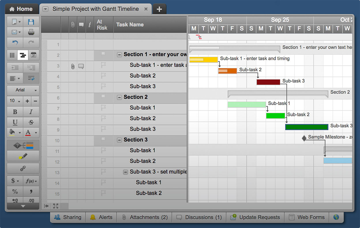Use This Free Gantt Chart Excel Template Within Gantt Chart Template Excel 2010