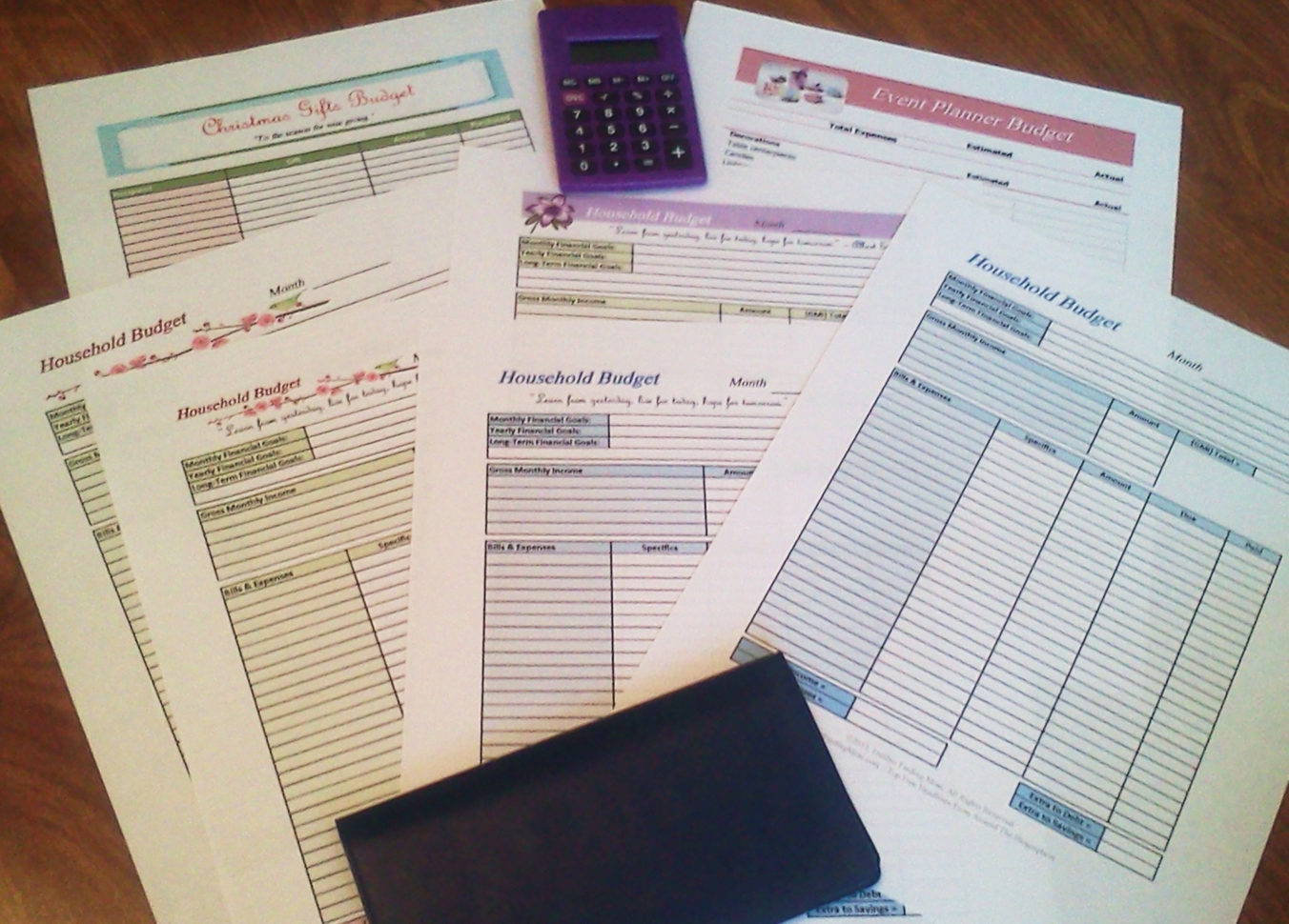 Using Free Financial Templates To Organize Your Household Budget With Financial Budget Template Free