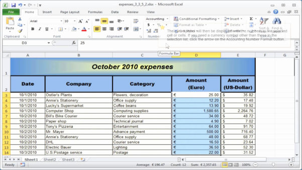 Using Microsoft Excel For Small Business Accounting Elegant And Microsoft Excel Spreadsheet Templates