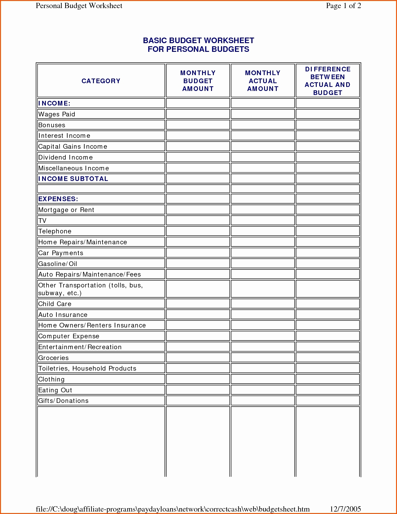 Usmcget Worksheet Pictures Highest Quality Dave Ramseygeting New Intended For Personal Financial Planning Spreadsheet Templates