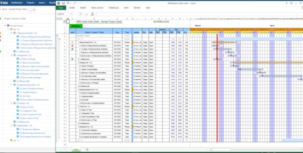 Wbs Gantt Chart For Jira | Atlassian Marketplace Within Excel Gantt Chart Template Dependencies