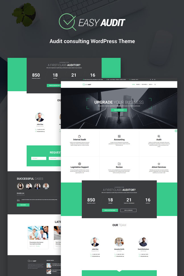 Website Template #66145 Financial Finance Audit Custom Website For Bookkeeping Website Templates