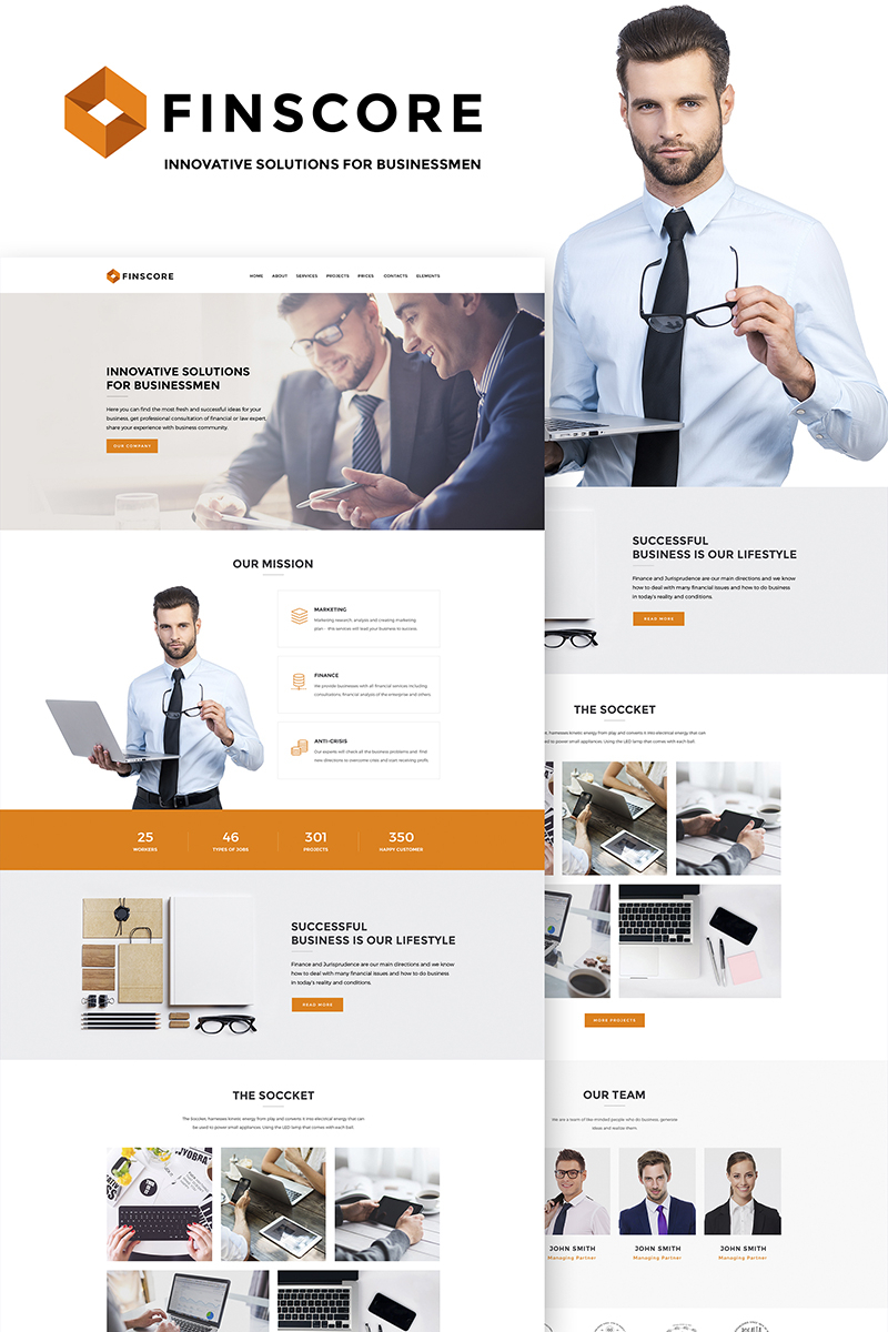 Website Template #66848 Consulting Management Office Custom Website And Bookkeeping Website Templates