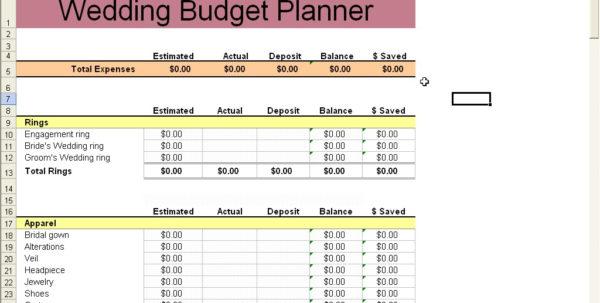 Wedding Budget Spreadsheet | Papillon Northwan Intended For Sample Wedding Budget Spreadsheet