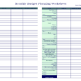 Weekly Budget Spreadsheet Blank Bi Worksheet Student Template Excel Throughout Personal Budget Spreadsheet Template Excel