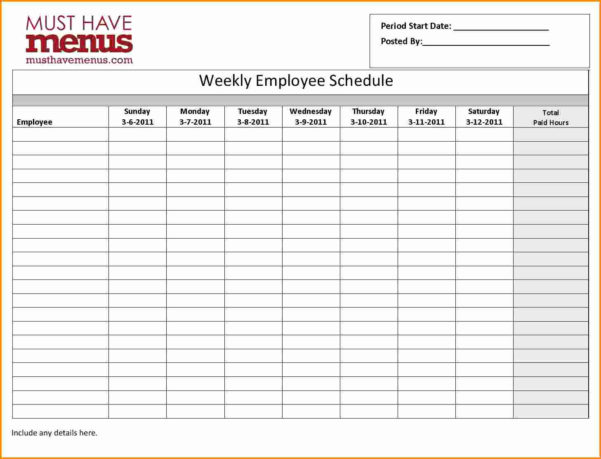 Weekly Employee Schedule Template 7 Monthly Employee Schedule To Monthly Staff Schedule Template
