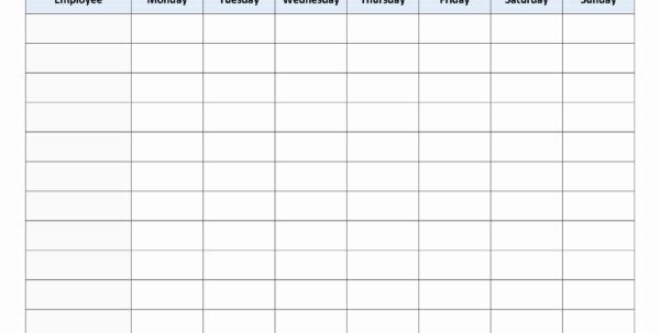 Weekly Employee Schedule Template Monthly Work Schedule Template 25 Within Monthly Employee Schedule Template