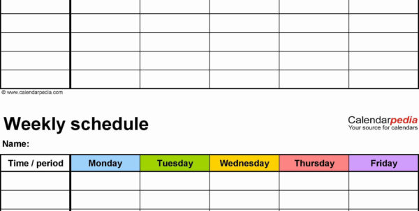 Weekly Employee Shift Schedule Template Excel To Weekly Employee Shift Schedule Template Excel