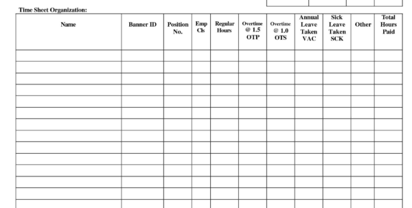 Weekly Timesheet Pdf | Bcexchange.online Intended For Payroll Sign In Sheet Template