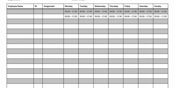 Weekly Work Schedule X Make A Photo Gallery Blank Monthly Employee For Monthly Work Schedule Template