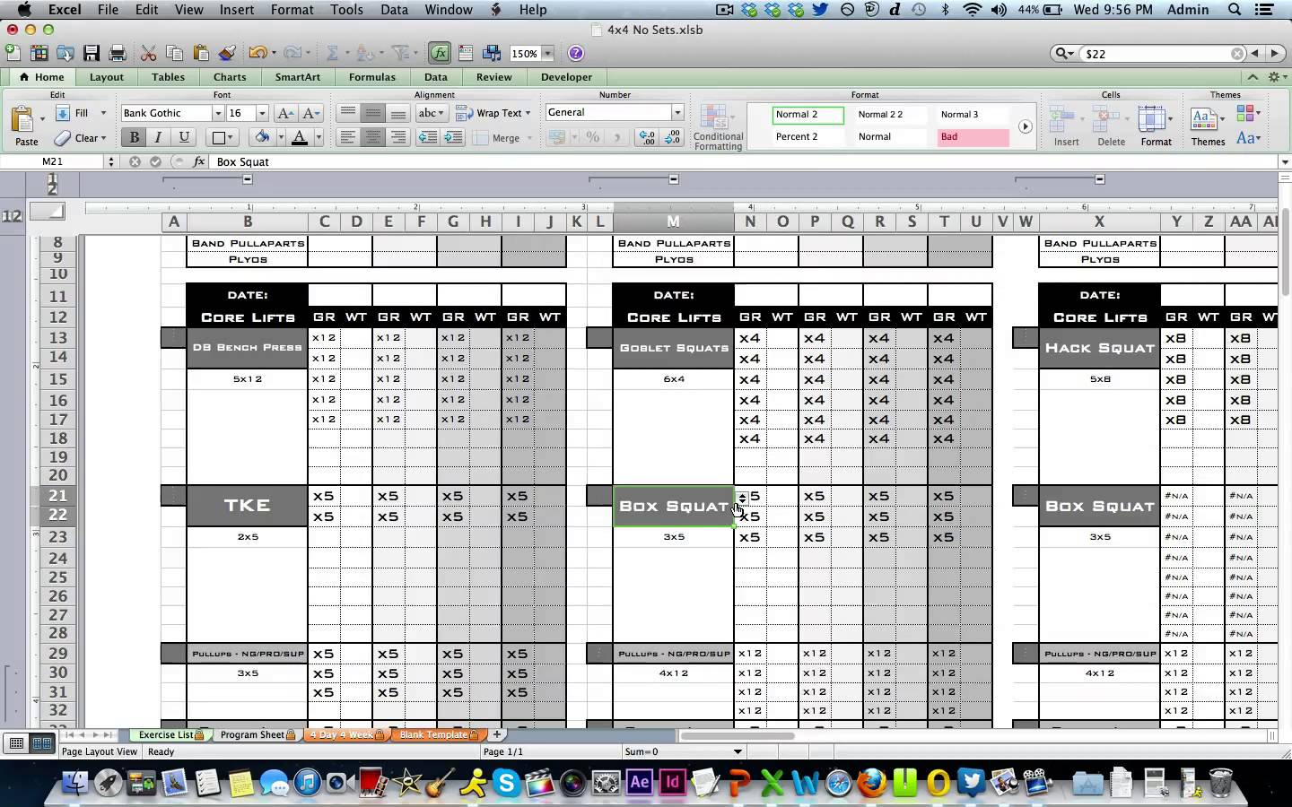 weight training spreadsheet template on excel spreadsheet