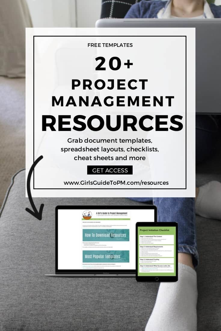 Welcome To The Resource Library • Girl's Guide To Project Management And Project Management Templates Download