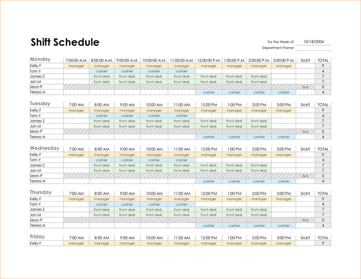 Work Back Schedule Template Excel | Resume Examples In Employee Schedule Format