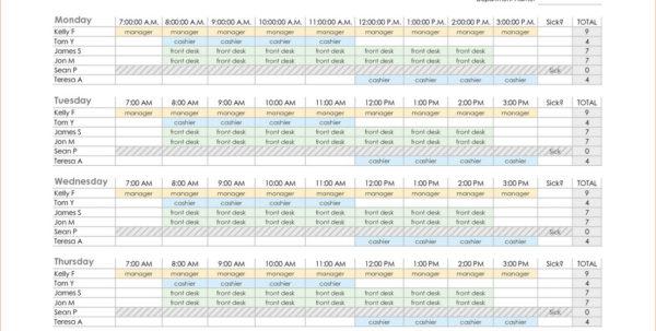 Work Back Schedule Template Excel | Resume Examples In Employee Schedule Format