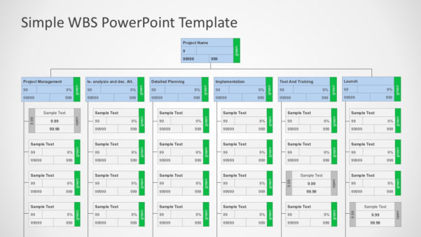 Work Breakdown Structure (Wbs) Powerpoint Diagram For Project Management Templates Ppt