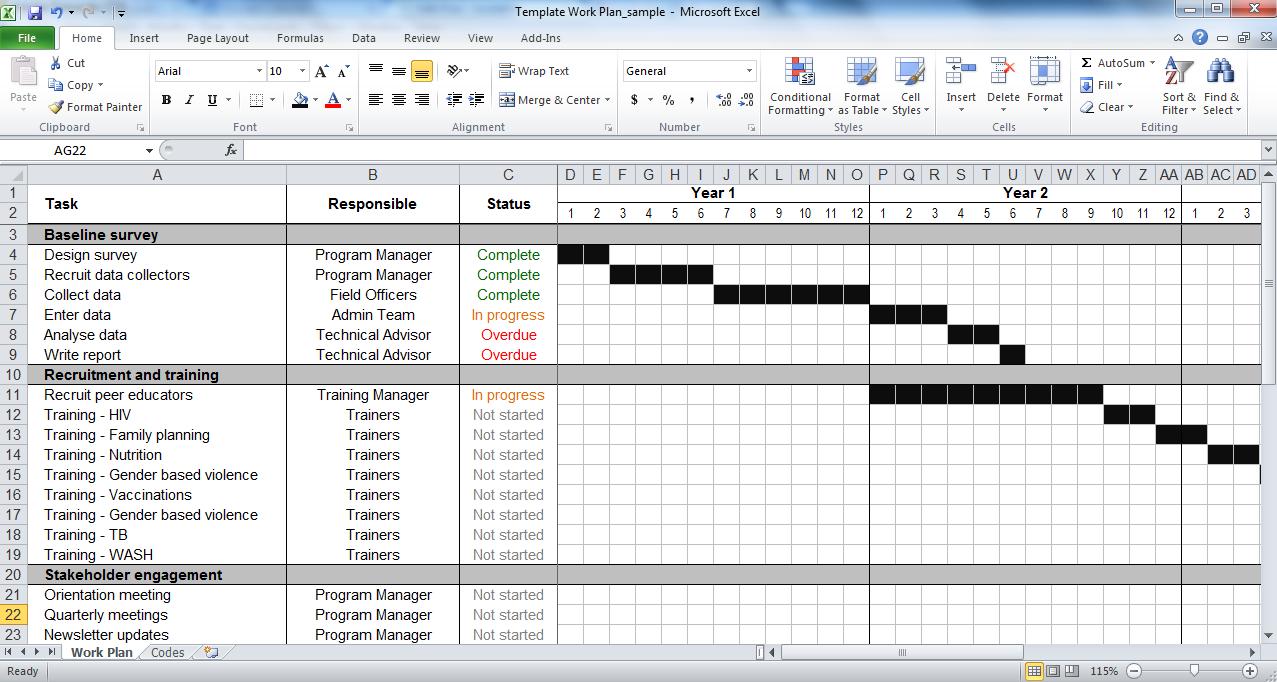 Work Planner Excel   Bino.9Terrains.co Inside Monthly Work Schedule Template