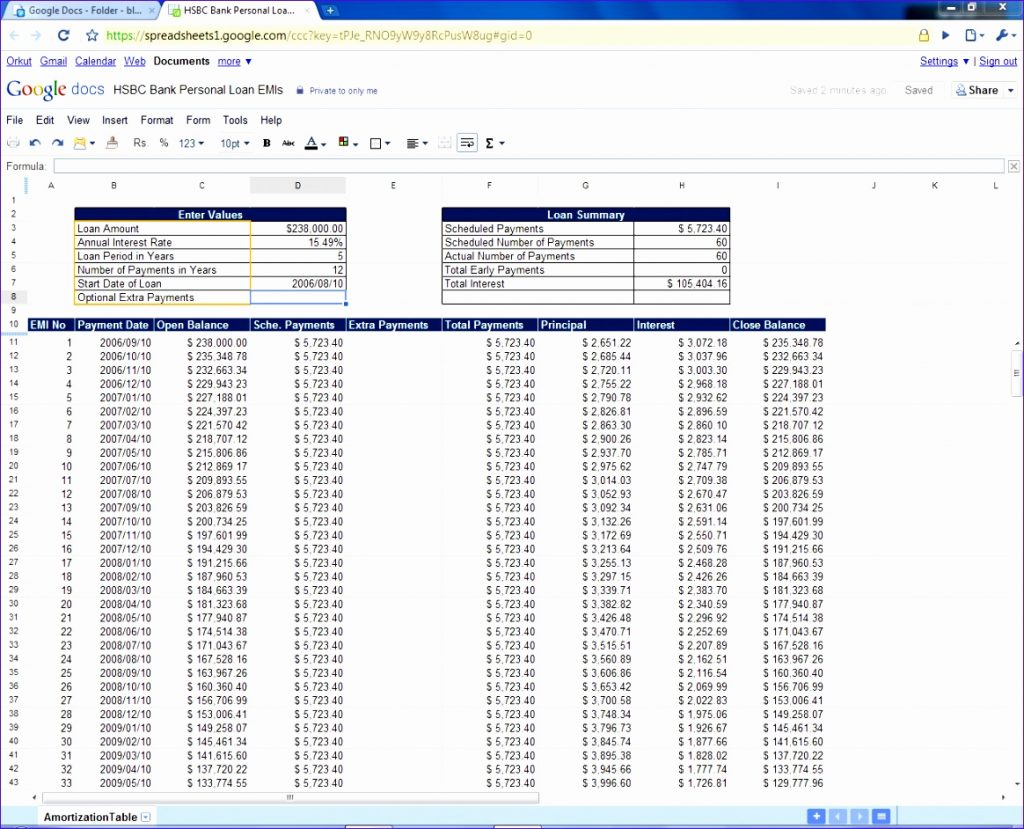 Xls Home Mortgagetor My Loan Spreadsheet Example Of Excel Payment And Loan Payment Spreadsheet Template
