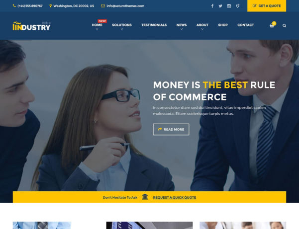 10  Best Wordpress Themes For Accountants 2018   Athemes With Accounting Website Templates Wordpress