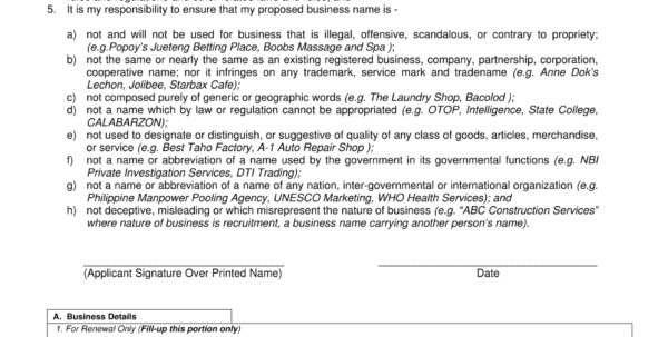 10  Required Forms For Opening And Operating A Bakery Business (Tax Within Business Registration Application Form