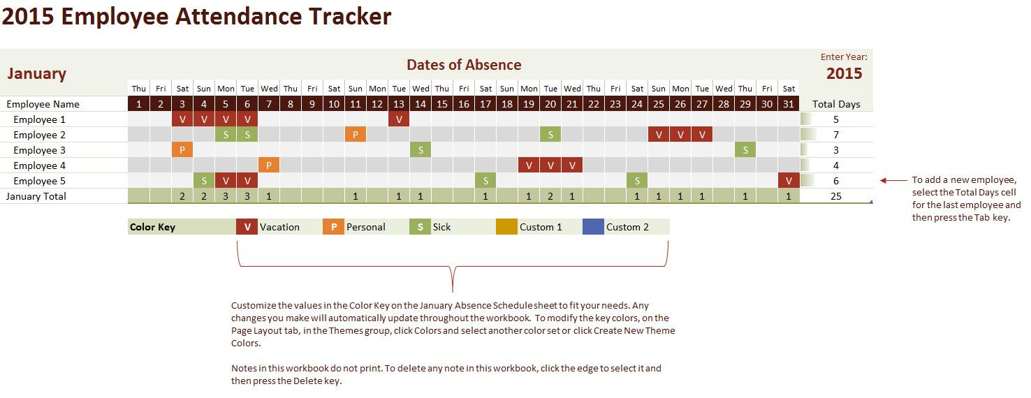 11+ Employee Attendance Tracking Template | Hospedagemdesites165 Inside Employee Attendance Tracking Spreadsheet