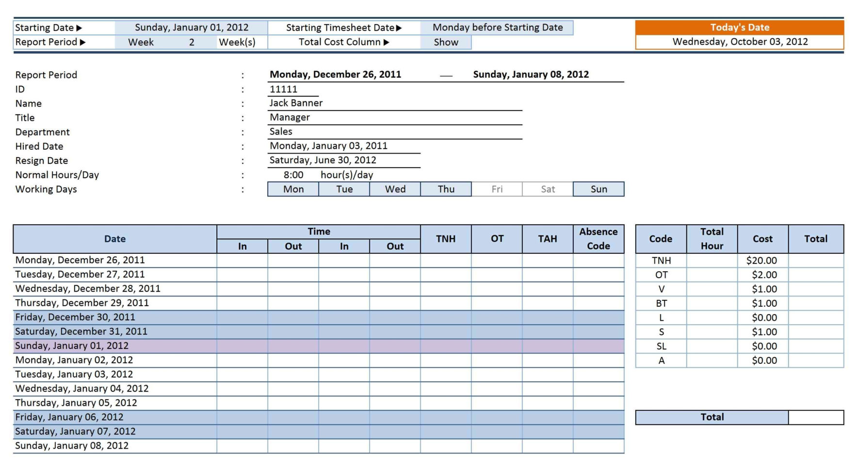 12 Employee Tracking Templates Excel Pdf Formats And Task Time Intended For Task Time Tracker Excel