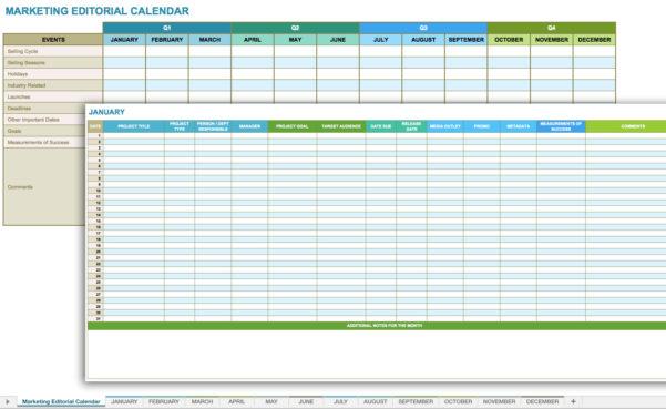 12 Free Social Media Templates   Smartsheet Throughout Marketing Tracking Spreadsheet
