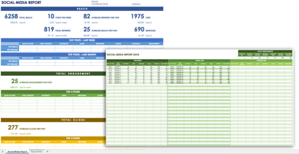 12 Free Social Media Templates   Smartsheet With Kpi Tracking Spreadsheet Template
