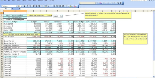 12 Month Business Budget Template Excel With Business Budget Intended For Small Business Budget Template Free Download