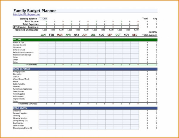13 Fresh Monthly Budget Excel Spreadsheet Template Free   Twables.site With Free Family Budget Spreadsheet