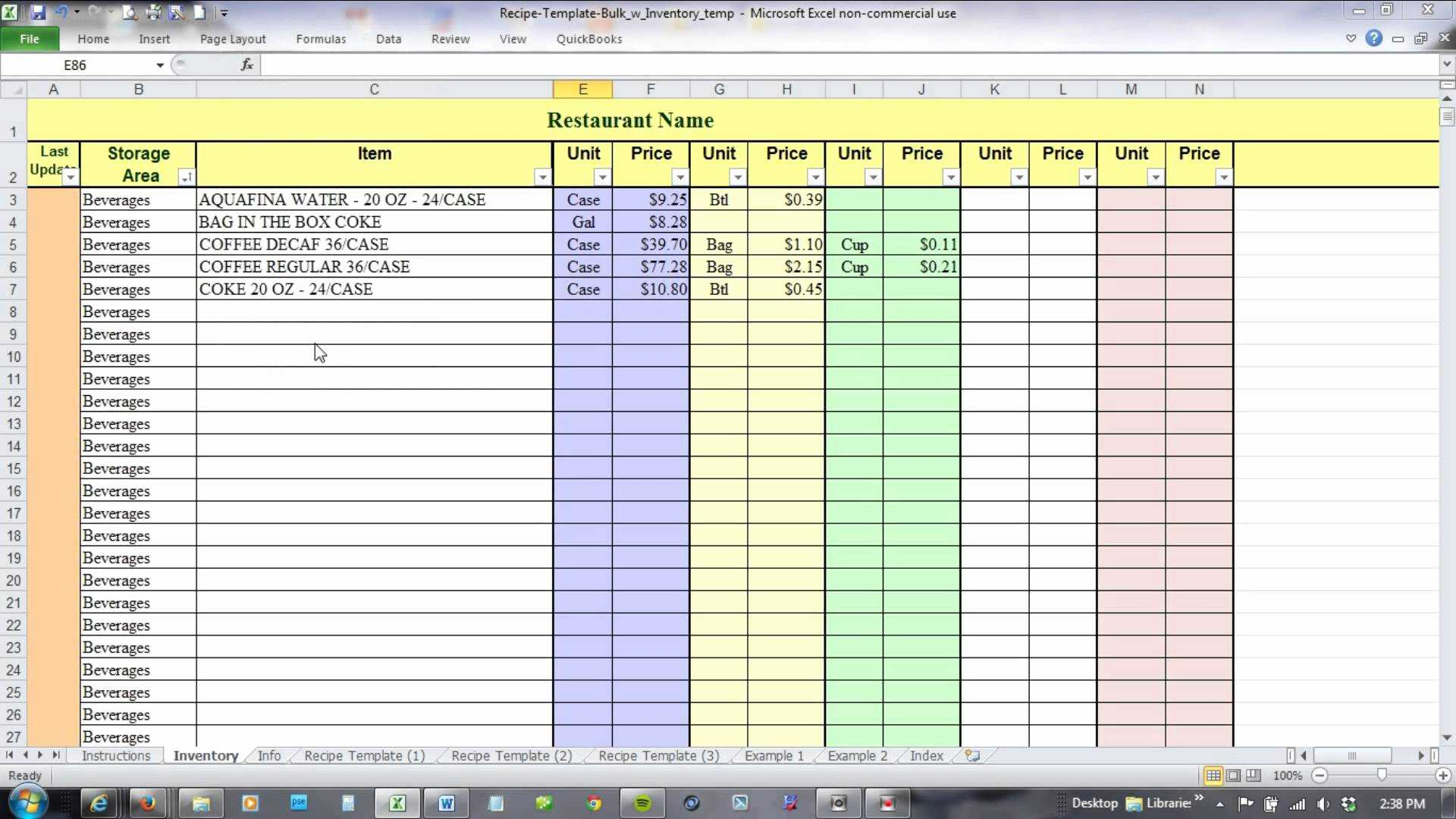 excel template inventory tracking download inventory