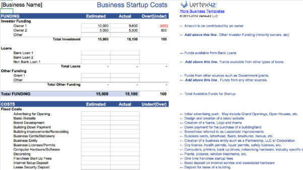 15 Easy To Use Budget Templates | Gobankingrates In Start Up Business Expense Template