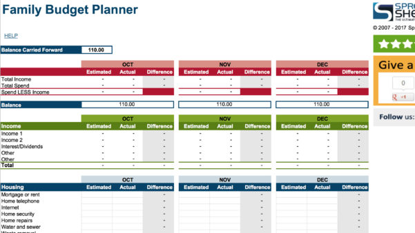15 Easy To Use Budget Templates | Gobankingrates Within Budget Plan Spreadsheet