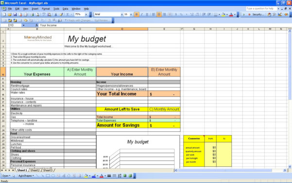 15 Free Personal Budget Spreadsheet – Page 12 – Excel Spreadsheet Throughout Personal Budget Spreadsheets