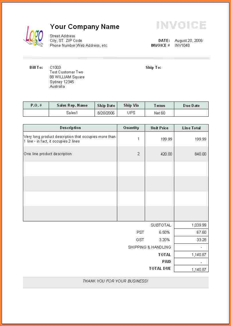 16  Embroidery Bill Invoice Format | Defaulttricks Throughout Payment Invoice Template