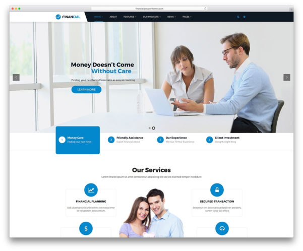 17 Best Financial Company Wordpress Themes 2017 Colorlib Also Inside Chartered Accountant Website Templates Free Download