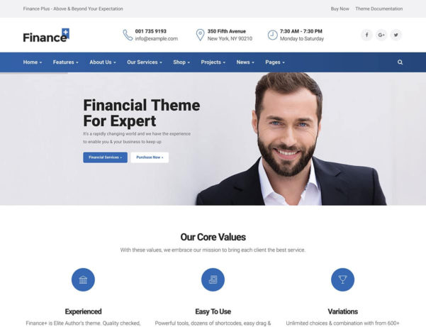 18  Best Financial Wordpress Themes 2018   Athemes With Accounting Website Templates Wordpress