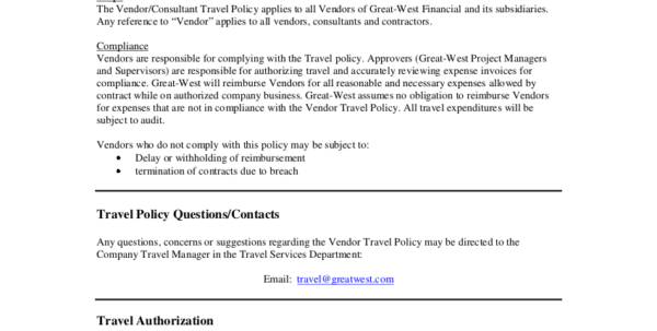 19  Travel Policy Examples & Samples To Business Travel Expense Policy Templates
