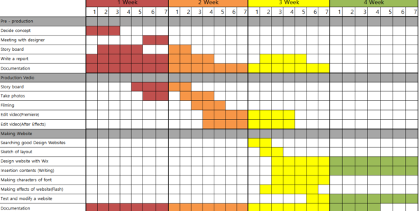 2 3 Production Schedules – Back Jiwon With Time Management Chart Excel