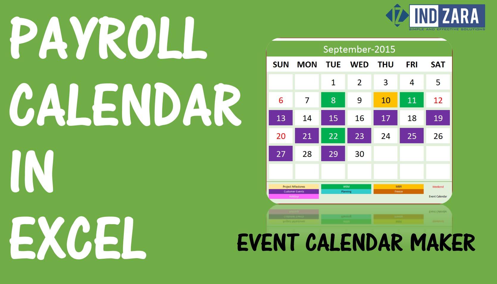 2 Week Payroll Calendar | Payroll Calendars Within Excel Spreadsheet For Payroll