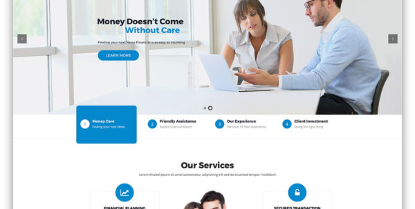 20 Best Financial Company Wordpress Themes 2018   Colorlib Intended For Chartered Accountants Website Templates