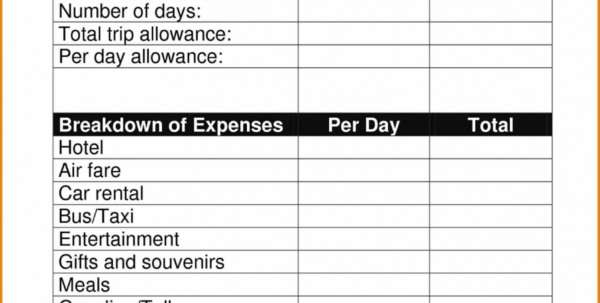 20  New Business Travel Expenses Template   Lancerules Worksheet With Business Trip Expenses Template