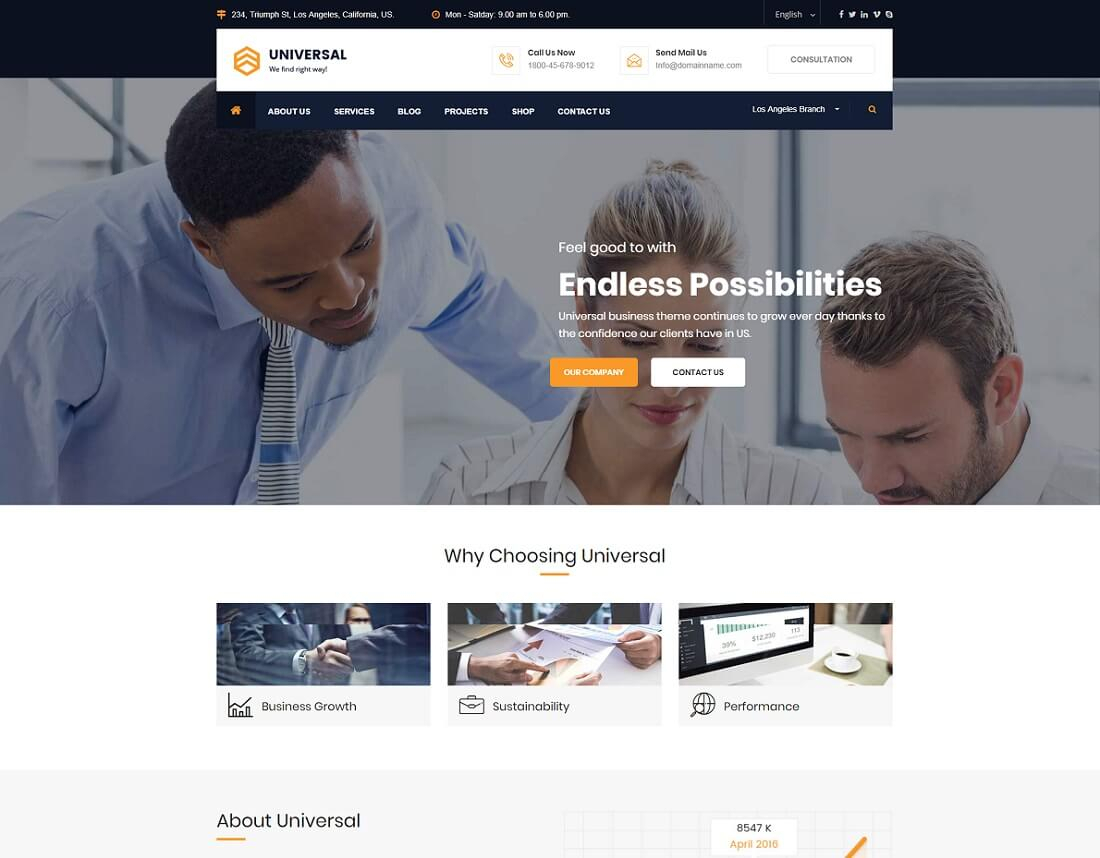 23 Best Financial Website Templates [Html & Wordpress] 2018   Colorlib With Chartered Accountant Website Templates Free Download